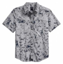 "CHEMISE MC ""SHIRT ALLOVER BIKE PRINT"" HARLEY DAVIDSON"