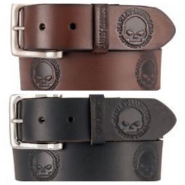 "CEINTURE ""WILLIE'S WORLD BELT BLK- BRN"" HARLEY DAVIDSON"