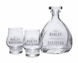 "ENSEMBLE ""DECANTER-GLASS-SET"" HARLEY DAVIDSON"