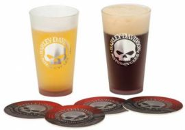 "Verres ""SKULL PINT GLASS SET"" - HARLEY - DAVIDSON"