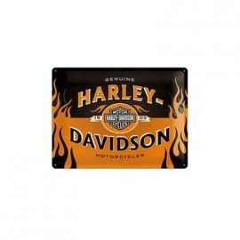 "Plaque ""LOGO ORANGE""- Harley-Davidson"