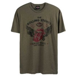 "T-SHIRT ""WINGED GREEN"" - HARLEY-DAVIDSON X THE ROLLING STONES"