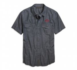 "CHEMISE ""EMBROIDERED CHAMBRAY"" - HARLEY-DAVIDSON"