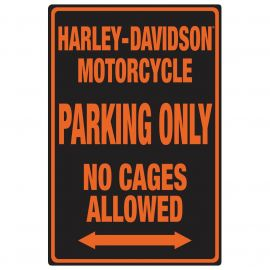 "Plaque "" Black no cages"" - Harley-Davidson"
