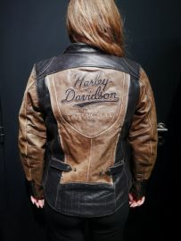 "Blouson cuir triple vent System ""Gallun Leather Jacket"" Harley-Davidson"