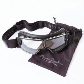 "Lunette Aviator ""NOIR CHROME INCOLORE"""