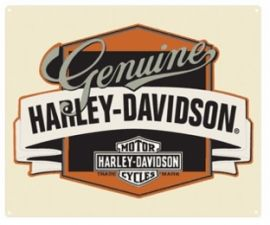 "Plaque ""GENUINE""- Harley- Davidson"