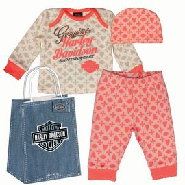 "ENSEMBLE "" GIRL 3PC HANGING GIFT SET"" HARLEY DAVIDSON"