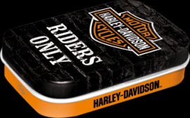"BOITE METALLIQUE ""MINT BOXES RIDERS ONLY"" HARLEY DAVIDSON"