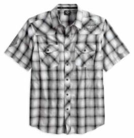 "CHEMISE MC "" SHIRT WASHED PLD"" HARLEY DAVIDSON"