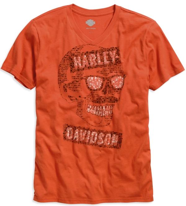 Tee shirt Harley-Davidson Mustache Skull